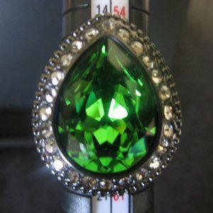 Brighton Green Swarovski Ring SZ 8
